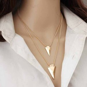 4 for $25 double triangle layered necklace